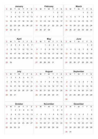 2018 calendar icon.
