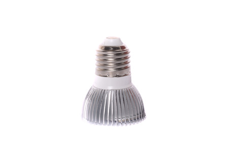Energy saving LED light bulb isolated on white Stock Photo