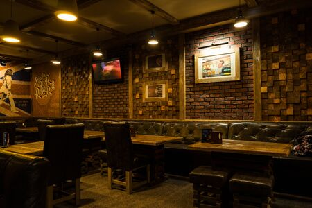 Lutsk, Ukraine 02.03.2017 new and clean luxury restaurant in european style.