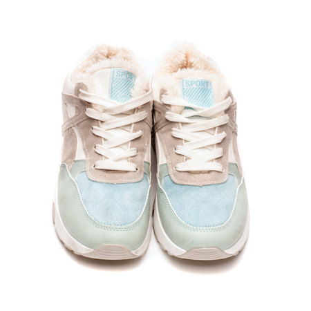 Women's athletic shoes isolated on white background Stock Photo