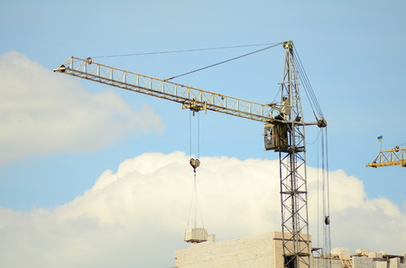 Construction of the new building tower crane Zdjęcie Seryjne