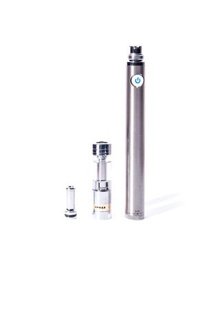 big electronic cigarettes isolated on white e-cig