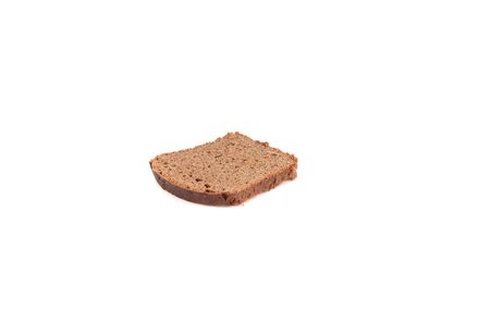 Black sliced bread. Isolated on a white background. The view from the top.