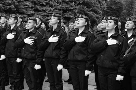 oath of military cadets Lutsk Ukraine 12102019.