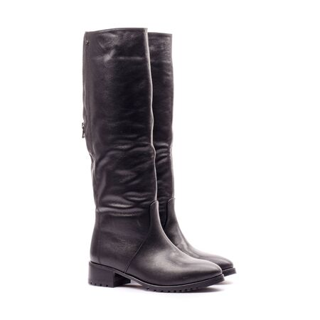 Womens boots on a white background