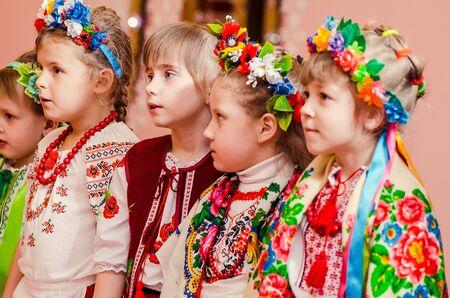 Ukrainian Evenings, Malvin Kindergarten, Lutsk Ukraine 28/01/2015. Editorial