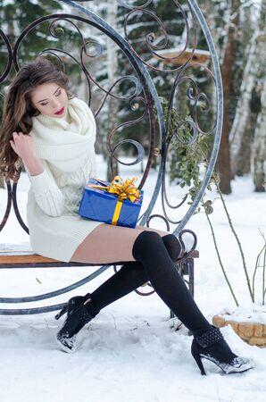 Snow queen. Portrait of a winter woman