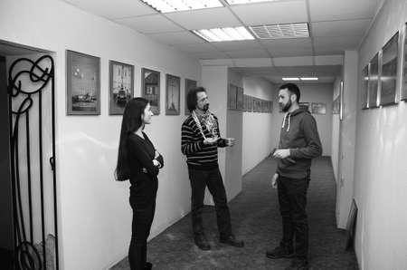 photo exhibition of Lutsk photo artists. Rivne Ukraine 02/22/2018. 報道画像