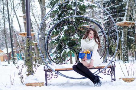 Snow queen. Portrait of a winter woman.