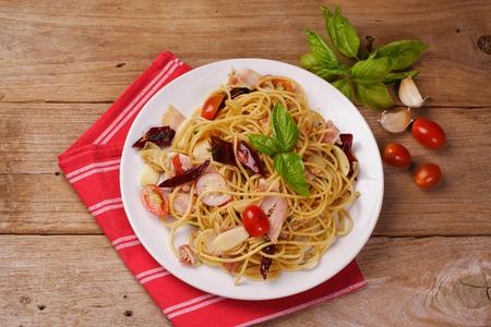 Top view of Spaghetti
