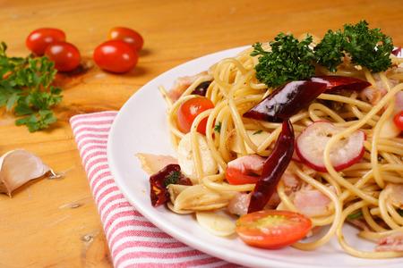 Spaghetti Reklamní fotografie