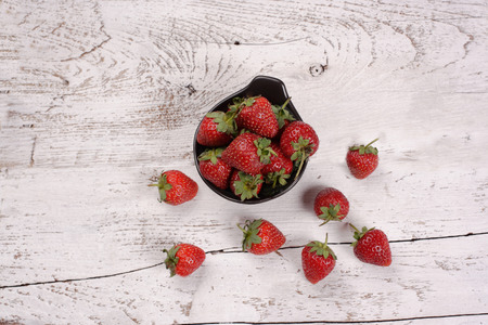 Top view of strawberries