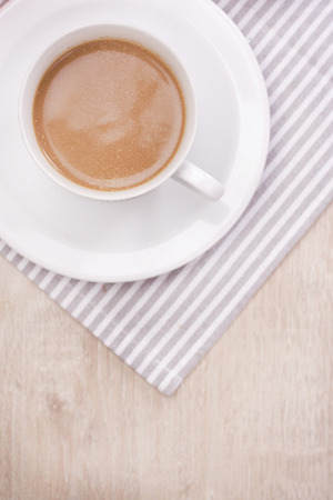 Coffee on wooden