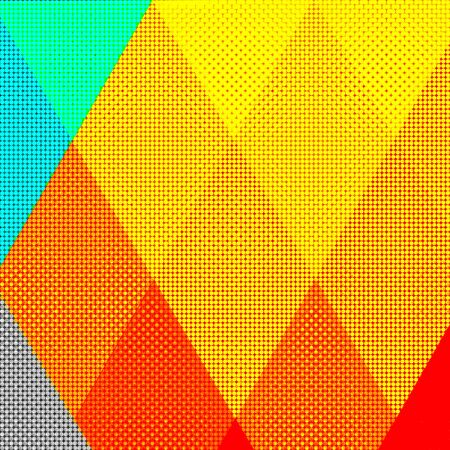 abstract illustration geometric multicolored background Stock Illustration - 150308347