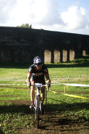 off road biking: Cyclo cross competition in Rome Editorial