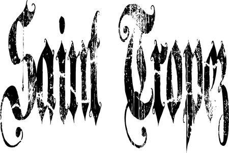 letting: Saint tropez typography