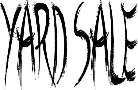 yard sale: yard sale Illustration