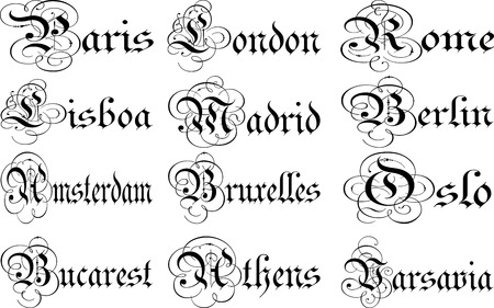 capitals: European Capitals Collage