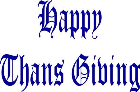 founding: happy thanks giving Illustration