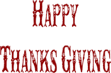 recurrence: happy thanks giving Illustration
