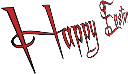 lent: Happy easter 3d