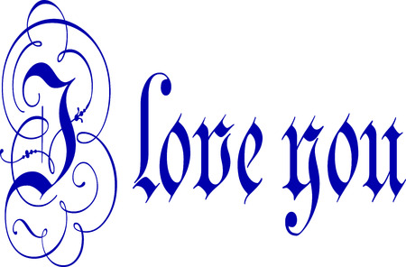 calligraphy pen: I Love You Calligraphy Pen and Ink