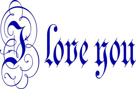 calligraphy pen: Te Amo caligraf�a Pluma y tinta