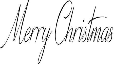 holliday: Merry Christmas writen in English written on a white Background