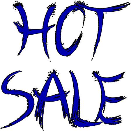 hot sale: Hot sale written in decorative on a white background. Illustration