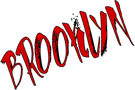 brooklyn: Brooklyn sign in red on white background Illustration