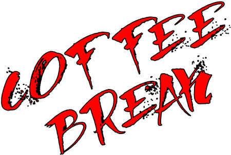 break: the word coffee break on white background Illustration