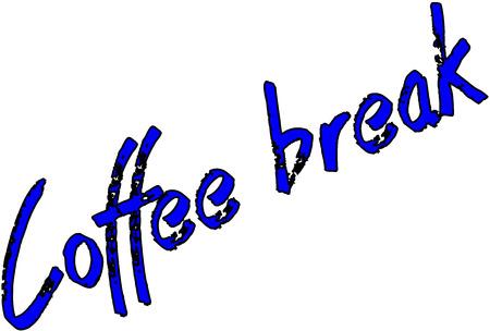 coffee break: the word coffee break on white background Illustration