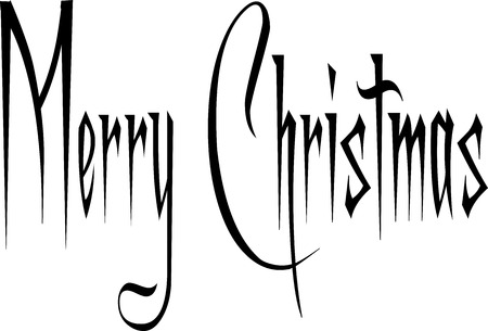 holliday: Merry Christmas writen in English on a white Background.