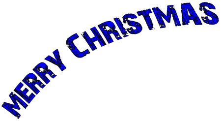 midwinter: Merry Christmas writen in English written on a white Background.