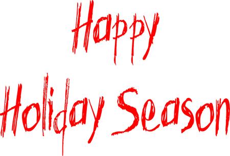 chanukkah: Happy Holiday Season written on white background Illustration
