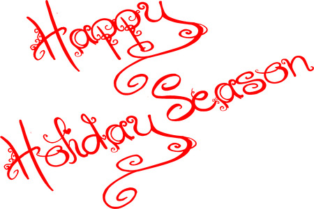 scrollwork: Happy Holiday Season written on white background Illustration