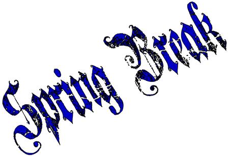 spring break: Spring Break Text illustration on white background Illustration