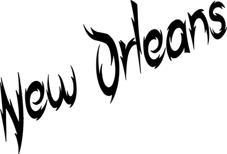 new orleans: New Orleans text illustration on white background
