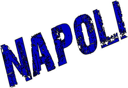 naples: Naples text illustration pmn white background