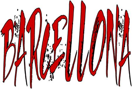 illustation: Barcellona text illustation on white background