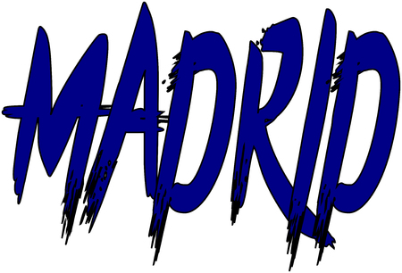 madrid: Madrid text illustration on white background, Illustration