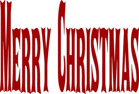 midwinter: Merry Christmas writen in English written on a white Background