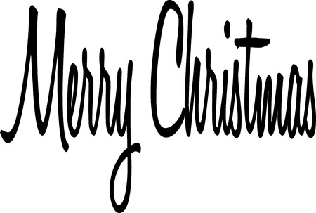 midwinter: Merry Christmas writen in English written on a white Background