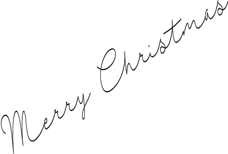 Merry Christmas writen in English written on a white Background