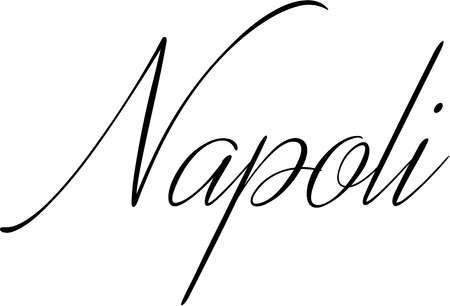 clear: Naples text illustration on white background