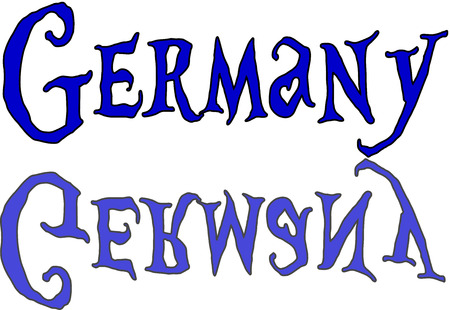 Germany text sign on white Background Illustration