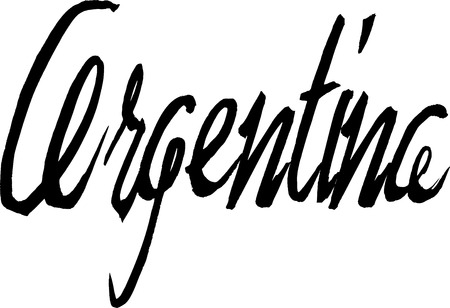 Argentina Text sign in italian on white Background Illustration
