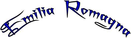 Emilia Romagna text sign illustration writen in Italian on white background Illustration