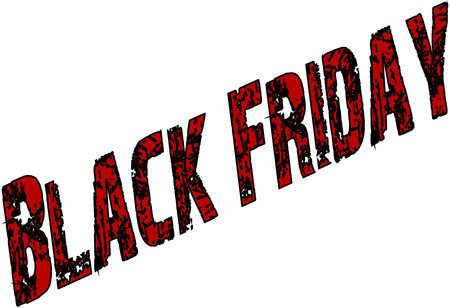madness: Black friday text sign illustration on white background
