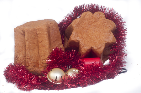 Panettone baked traditional Christmas fruit from different countries.